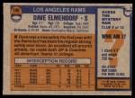 1976 Topps #196  Dave Elmendorf  Back Thumbnail