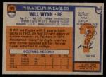 1976 Topps #199  Will Wynn   Back Thumbnail