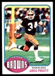 1976 Topps #275  Greg Pruitt  Front Thumbnail