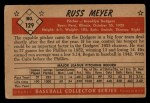 1953 Bowman #129  Russ Meyer  Back Thumbnail
