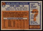 1976 Topps #188  Steve Zabel  Back Thumbnail