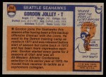 1976 Topps #242  Gordon Jolley   Back Thumbnail