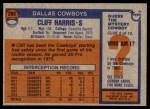 1976 Topps #260  Cliff Harris  Back Thumbnail
