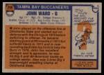 1976 Topps #268  John Ward   Back Thumbnail