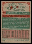 1973 Topps #143  Clyde Lee  Back Thumbnail