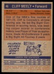 1972 Topps #46  Cliff Meely   Back Thumbnail