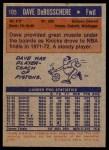 1972 Topps #105  Dave Debusschere   Back Thumbnail