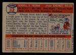 1957 Topps #32  Hersh Freeman  Back Thumbnail