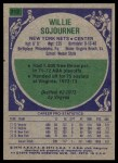 1975 Topps #312  Willie Sojourner  Back Thumbnail