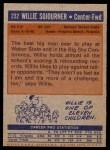 1972 Topps #232  Willie Sojourner   Back Thumbnail