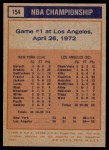 1972 Topps #154   NBA Playoffs - Game #1 Back Thumbnail