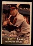 1957 Topps #4  Johnny Logan  Front Thumbnail