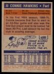 1972 Topps #30  Connie Hawkins   Back Thumbnail