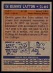 1972 Topps #106  Dennis Layton   Back Thumbnail