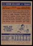 1972 Topps #113  Herm Gilliam   Back Thumbnail