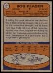 1974 Topps #107  Bob Plager  Back Thumbnail