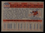 1957 Topps #150  Bob Friend  Back Thumbnail