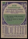 1975 Topps #17  Bob Dandridge  Back Thumbnail