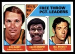 1975 Topps #3   -  Rick Barry / Bill Bradley / Calvin Murphy NBA Free Thow Leaders Front Thumbnail