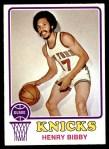 1973 Topps #48  Henry Bibby  Front Thumbnail