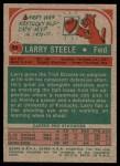 1973 Topps #69  Larry Steele  Back Thumbnail