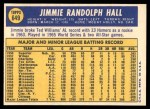 1970 Topps #649  Jimmie Hall  Back Thumbnail