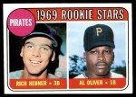 1969 Topps #82   -  Al Oliver / Rich Hebner Pirates Rookies Front Thumbnail