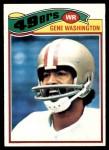 1977 Topps #156  Gene Washington  Front Thumbnail