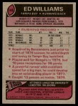 1977 Topps #148  Ed Williams  Back Thumbnail