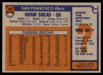 1976 Topps #163  Norm Snead  Back Thumbnail