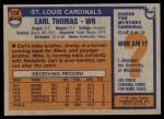 1976 Topps #179  Earl Thomas  Back Thumbnail