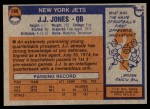 1976 Topps #186  J.J. Jones   Back Thumbnail