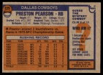 1976 Topps #225  Preston Pearson  Back Thumbnail