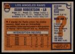 1976 Topps #226  Isiah Robertson  Back Thumbnail