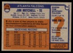 1976 Topps #276  Jim Mitchell  Back Thumbnail