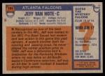1976 Topps #164  Jeff Van Note  Back Thumbnail