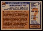 1976 Topps #168  Sherman White  Back Thumbnail