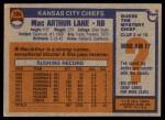 1976 Topps #184  MacArthur Lane  Back Thumbnail