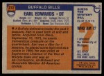 1976 Topps #213  Earl Edwards  Back Thumbnail