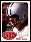 1976 Topps #227  Errol Mann  Front Thumbnail