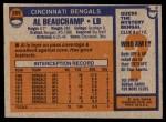 1976 Topps #269  Al Beauchamp  Back Thumbnail