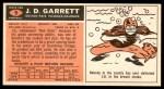 1965 Topps #9  J. D. Garrett  Back Thumbnail