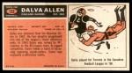 1965 Topps #132  Dalva Allen  Back Thumbnail