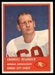 1963 Fleer #53  Sherrill Headrick  Front Thumbnail