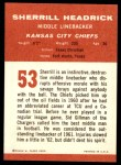 1963 Fleer #53  Sherrill Headrick  Back Thumbnail