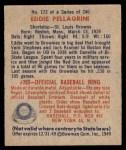 1949 Bowman #172  Eddie Pellagrini  Back Thumbnail