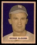 1949 Bowman #232  George McQuinn  Front Thumbnail