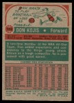 1973 Topps #102  Don Kojis  Back Thumbnail