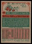1973 Topps #151  Mel Counts  Back Thumbnail