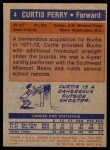 1972 Topps #4  Curtis Perry   Back Thumbnail